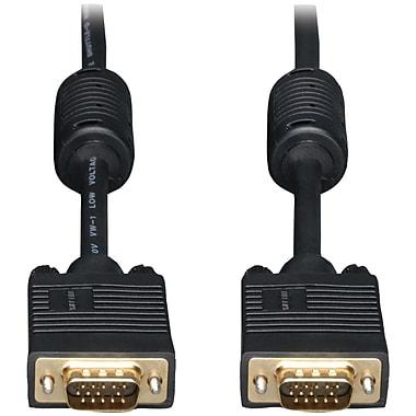 Tripp Lite 6' HD 15 Male/15 Male SVGA/VGA Monitor Extension Gold Cable With RGB Coax, Black