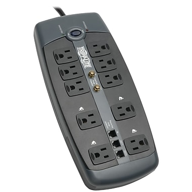 Tripp Lite Protect It! 10 Outlet 3345 Joule Surge Suppressor With 8' Cord (TRP1008TELP)