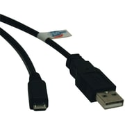 Tripp Lite 6' USB 2.0 Type A Male to Type B Male Device Cable, Black (TRPU050006)
