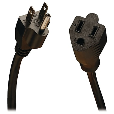Tripp Lite P022 25' Power Extension Cord, 18 AWG, Black (TRPP022025)