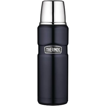 Thermos 16 oz. Stainless Steel King Compact Bottle, Midnight Blue