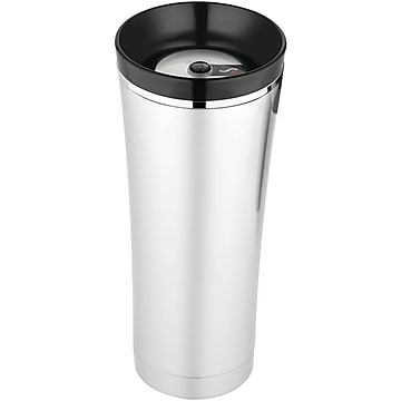 Thermos Sipp 16 oz. Stainless Steel Travel Mug With Tea Hook, Black/Silver