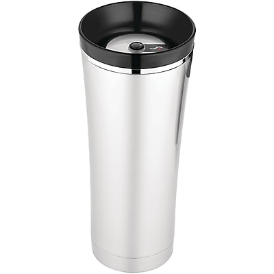 Thermos® Sipp 16 oz. Stainless Steel Travel Mug With Tea Hook, Black/Silver
