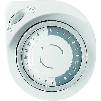 GE 24-Hour Plug-In Big Button Mechanical Light Timer