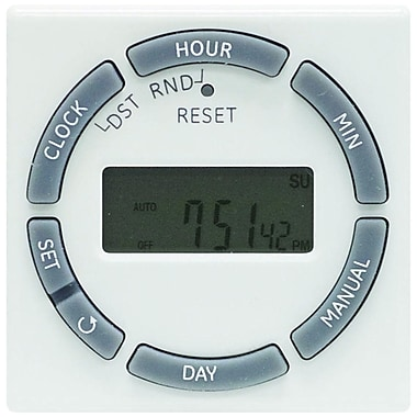 GE 7-Day Indoor In-Wall Digital Light Timer, White