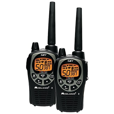 Midland Radio GxT1000VP4 Up to 36 Mile Two-Way Radio, 2/Pack (MDLGXT1000VP4)