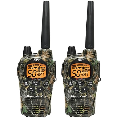 Midland Radio GxT1050VP4 Up to 36 Mile Two-Way Radio, 2/Pack (MDLGXT1050VP4)