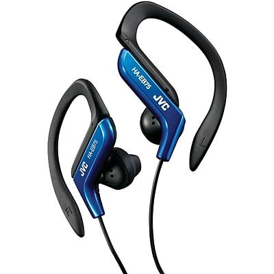 JVC HA-EB75A Stereo Sport Style Ear-clip Headphone, Blue 209681