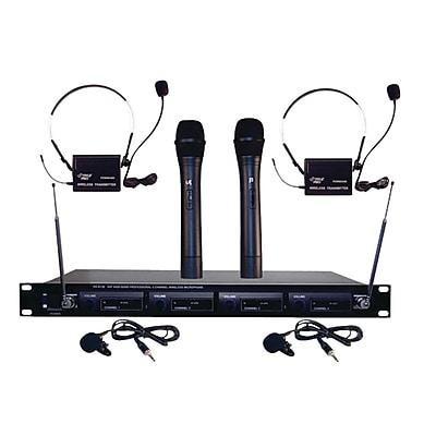Pyle® Pro PDWM4300 4 Mic VHF Wireless Rack Mount Microphone System