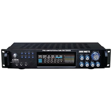 Pyle® Pro P2001AT 2000W Hybrid Amplifier And AM/FM Tuner