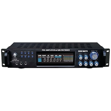 Pyle® Pro P3001AT 3000W Hybrid Amplifier And AM/FM Tuner