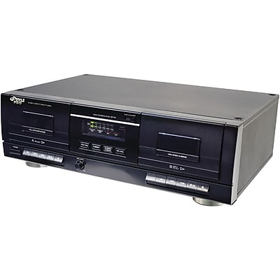 Pyle® PT659DU Dual Stereo Cassette Deck With Tape USB to MP3 Converter
