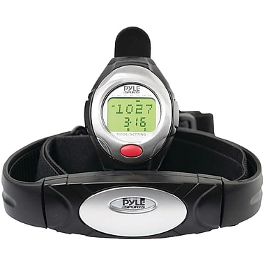 Pyle® One Button Heart Rate Watch With Minimum, Average Heart Rate