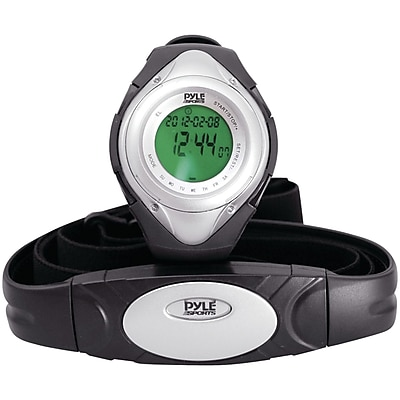 Pyle® Heart Rate Monitor Watch With Minimum, Calorie Counter, and Target Zones, Silver