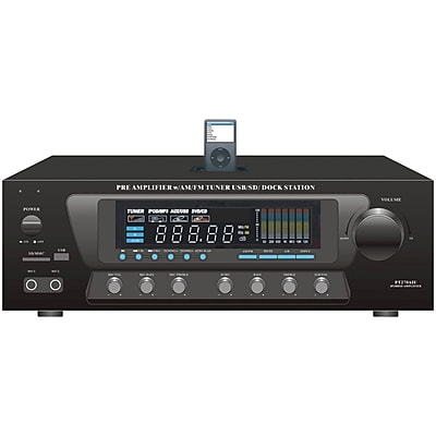 Pyle® Home PT270AiU 600 Watt Stereo AM/FM Receiver With ipod Dock