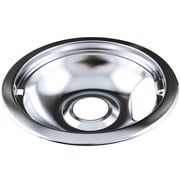 "Range Kleen Style A 6"" Universal Chrome Drip Pan, Single Piece, Silver (RKN101AM)"