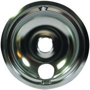"Range Kleen® Style B 8"" Chrome Drip Pans, Single Piece, Silver"