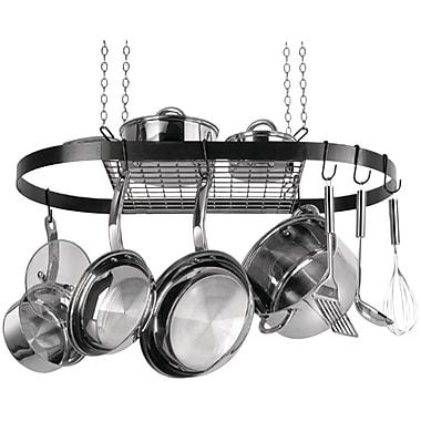 Range Kleen – Support à casseroles suspendu, ovale, émail noir (RKNCW6000R)