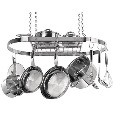 Range Kleen – Support à casseroles suspendu en acier inoxydable ovale (RKNCW6001R)