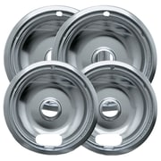 "Range Kleen® 4 Pack Style A 2"" - 6"" Chrome Drip Pans"