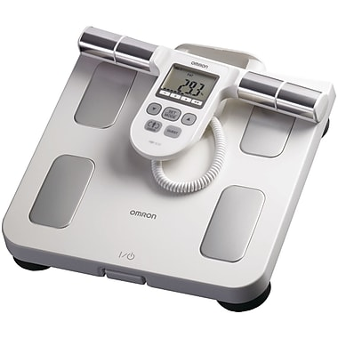 Omron® HBF-510W Full-Body Sensor Body Composition Monitor and Scale, 330 lbs., White