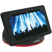 Jensen Portable Stereo Speaker For Tablets and eReaders With Built-in Amp, Black (JENSMPS182)