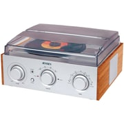 Jensen Stereo 3 Speed Turntable With AM/FM Receiver and 2 Built In Speakers (JENJTA220)