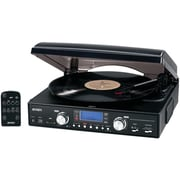 Jensen 3-Speed Stereo Turntable With MP3 Encoding System (JENJTA460)