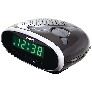 Jensen JCR-175 AM/FM Alarm Clock Radio with 0.6