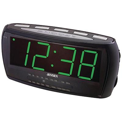 Jensen® JCR-208 AM/FM Alarm Clock Radio With 1.8