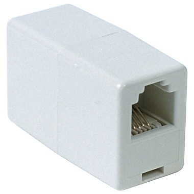 RCA In Line Phone Cord Coupler, White (RCATP262WH)