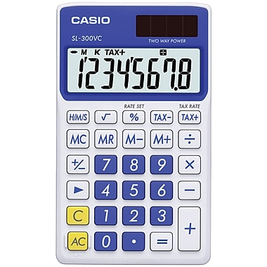 Casio® SL300VC 8-Digit Wallet Sized Calculator
