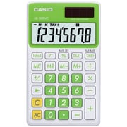 Casio® SL300VC 8-Digit Display Solar Wallet Calculator, Green