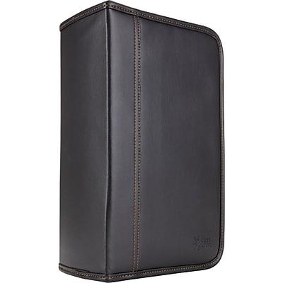 Case Logic® KSW-128T Faux Leather 128-Disc CD Wallet, Black