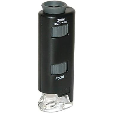 Carson – Microscope de poche Optical Micromax 60x-100x, DEL, noir (CSNMM200)