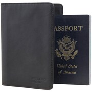 Mobile Edge Leather I.D. Sentry Passport Wallet, Black