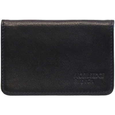 Mobile Edge Leather I.D. Sentry Credit Card Wallet, Black
