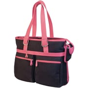 "Mobile Edge MacBook® 16"" Eco-Friendly Notebook Tote, Black/Pink"