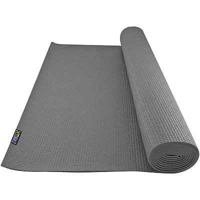 Gofit GF-YOGA-G Non-Slip Surface Yoga Mat, Gray