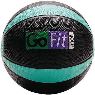 Gofit Rubber Medicine Ball, 4 lbs, Black/Green