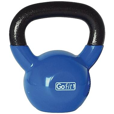 Gofit – Haltère russe recouvert de vinyle bleu avec DVD d'entraînement, bleu (GOFGFKBELL20)