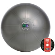 Gofit GF-75PRO 75 Cm Professional Stability Ball And Core Performance Training DVD, Dark Gray