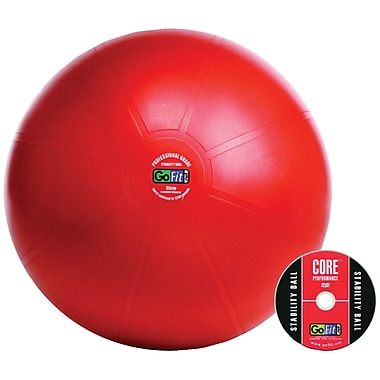Gofit Professional Stability 65 Cm Ball And Core Performance Training DVD, Red (GOFGF65PRO)