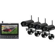 "SecurityMan® 4-CH Wireless Security System With 7"" LCD/SD Recorder and 4 Wireless Cameras"