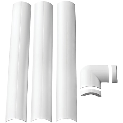 Omnimount® Wall-Mounted Cable Management System, White