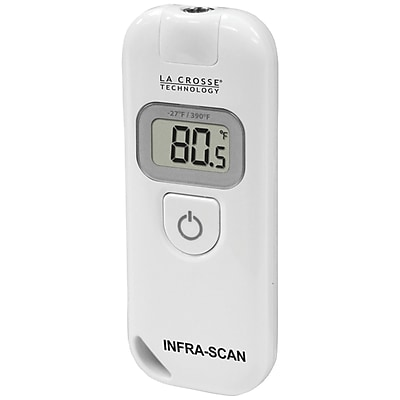 La Crosse Technology 914-604 Wireless Infra-Red LCD Scanning Thermometer, White