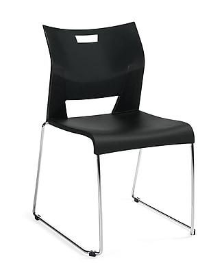 Global Duet Stack Chair, Armless, Beige