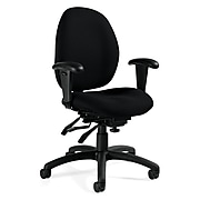 Global® Malaga® Urban Fabric Low Back Multi Tilter Task Chair, White Sand