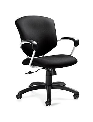 Global Supra Urban Fabric Medium Back Tilter Chair, Red Rose