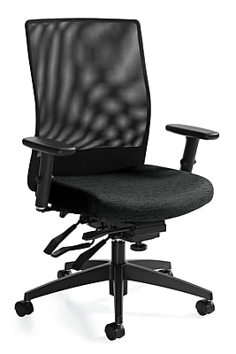 Global Weev Fabric Computer and Desk Office Chair, Adjustable Arms, Atrium (QS22213GLBKPB06)